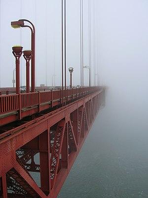 The Bridge (2006 documentary film) - Image: Morning Fog at GGB