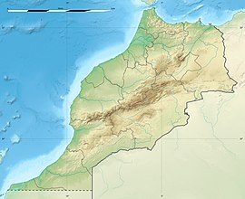 Map showing the location of Toubkal National Park