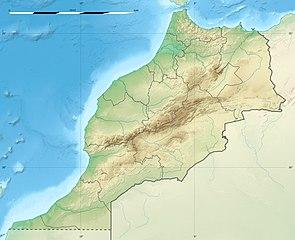 Topografische Karte Marokko