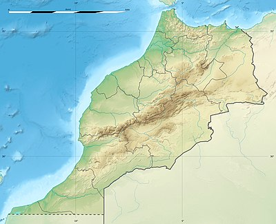 Location map Morocco