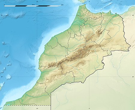 المقبرة اليهودية في سلا على خريطة المغرب