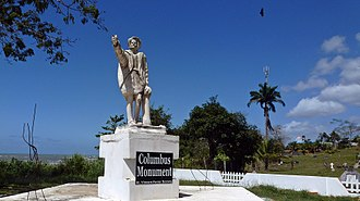 Trinidad - Moruga – Christopher Columbus monument. Columbus landed here on his third voyage in 1498. This is on the southern coast of the island of Trinidad, West Indies