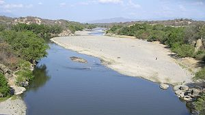Motagua River - The Motagua River during the dry season