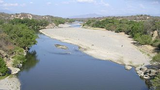 Motagua River - The Motagua River during the dry season