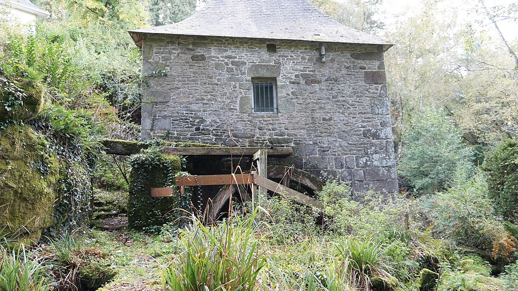 Vue de face du Moulin de Quip à Allaire