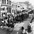 Mounted Infantry of the Expeditionary Force in Queen Street, Brisbane, 1914 (8886937963).jpg