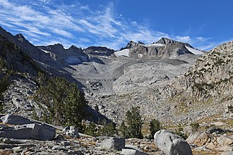 Mount Lyell (California) - Mount Lyell from Donahue shoulder