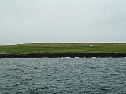Muckle Green Holm seen from the north-west