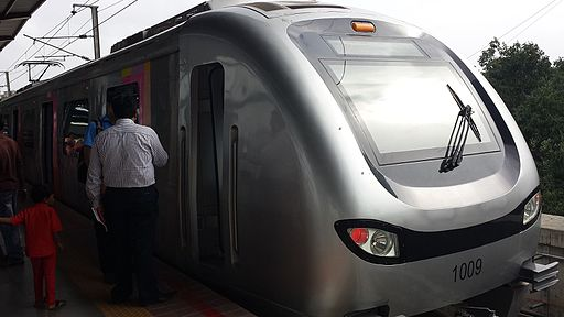 Mumbai Metro Train front