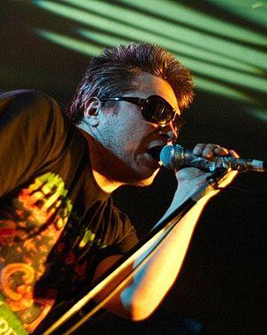 Zygmunt Staszczyk - Staszczyk during a T.Love concert in Rzeszów, 2006