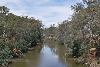 Goulburn River - The lower course of the Goulburn River at Murchison, 2009
