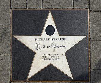 Star on the Walk of Fame, Vienna Musik Meile Wien, Richard Strauss (40).jpg
