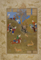 Muzaffar Ali - Bahram Gur and Fitna hunting.png