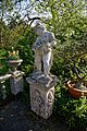 Myddelton House, Enfield, London ~ lake terrace pedestal statue 03.jpg