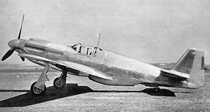 North American P-51 Mustang - North American NA-73X, with short carburetor air intake scoop and the frameless, rounded windscreen. On the production Mustang Mk Is the latter was replaced with a three-piece unit incorporating a bullet-resistant windscreen