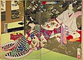 NDL-DC 1301527-Tsukioka Yoshitoshi-新撰東錦絵 おさめ遊女を学ぶ図-明治19-cmb.jpg