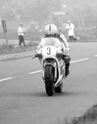 Formula TT - Joey Dunlop, five times F1 world champion, in action at the 1982 Ulster Grand Prix