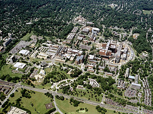 National Institutes of Health campus - Aerial view of the NIH campus in 2003
