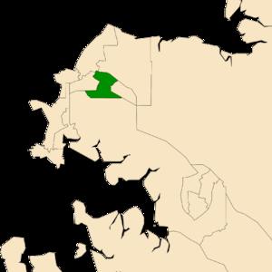Electoral division of Sanderson - Location of Sanderson in the Darwin/Palmerston area