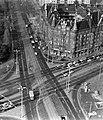 Nagyvárad tér a SOTE (ma Semmelweis Egyetem) Elméleti Tömb toronyépületének a tetejéről fényképezve. Fortepan 17352.jpg