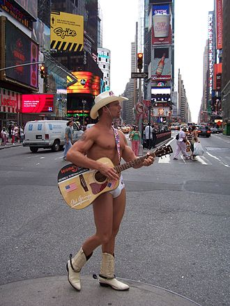 Naked Cowboy - Naked Cowboy in Times Square.