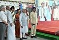 Narendra Modi addressing at the inauguration ceremony of New Integrated Terminal of Tirupati Airport, Andhra Pradesh. The Governor of Andhra Pradesh and Telangana, Shri E.S.L. Narasimhan.jpg