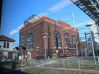 Main Line (Long Island Rail Road) - Power station at NASSAU Interlocking in Mineola