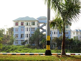Naypyidaw - Apartment building in Naypyidaw