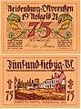 Neidenburg (Nidzica) 75Pf. 1921.jpg