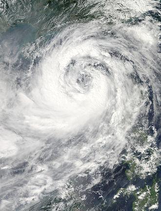 Typhoon Nesat (2011) - Typhoon Nesat organizing in the South China Sea on September 28