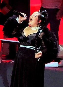 Netta Barzilai tijdens Het Grote Songfestivalfeest