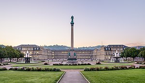 New Palace (Stuttgart) - From the Garden