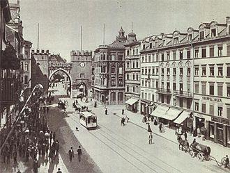 Neuhauser Straße - Neuhauser Straße (partial view, 1900)
