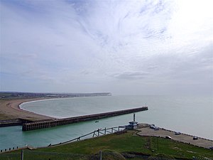 Looking down from Newhaven Fort on the harbour...