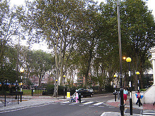 open space in north London that straddles the border between Islington and Hackney