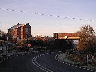 Newsholme, Lancashire - Image: Newsholme Railway Bridge geograph.org.uk 83937