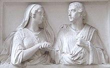 Relief des Grabdenkmals für Niebuhr und seine zweite Frau Margarete auf dem Alten Friedhof in Bonn (Quelle: Wikimedia)