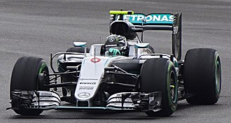 2016 European Grand Prix - Nico Rosberg (pictured at the British Grand Prix) started from pole position and went on to win the race for Mercedes.