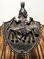 Nigeria, regno del benin, edo, pendente con cavaliere, xvii-xix secolo.jpg