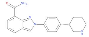 Niraparib 2-D chemical structure.png