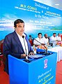 Nitin Gadkari addressing after dedicating the passenger ship M.V. Corals and Lakshadweep Wharf to the Nation, at Willingdon Island, Kochi, in Kerala on January 09, 2015.jpg