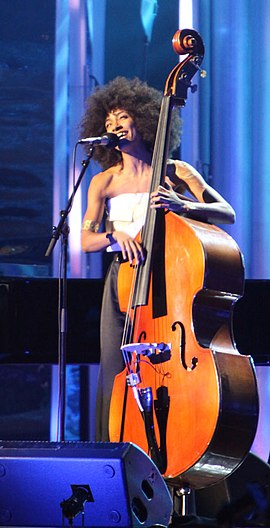 Spalding performs at the Nobel Peace Prize Concert of 2009 Nobel Peace Price Concert 2009 Esperanza Spalding1.jpg