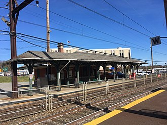 Noble station - Image: Noble PA SEPTA station from outbound platform November 2017