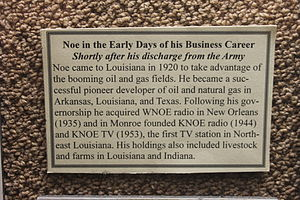 James A. Noe - Noe biographical placard at Chennault Museum