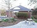 Nokesville Neighborhood Library, with stone table; Nokesville, VA; 2014-04-13.jpg