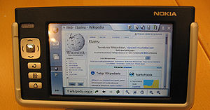 Picture of Nokia 770 on Finnish Wikipedia