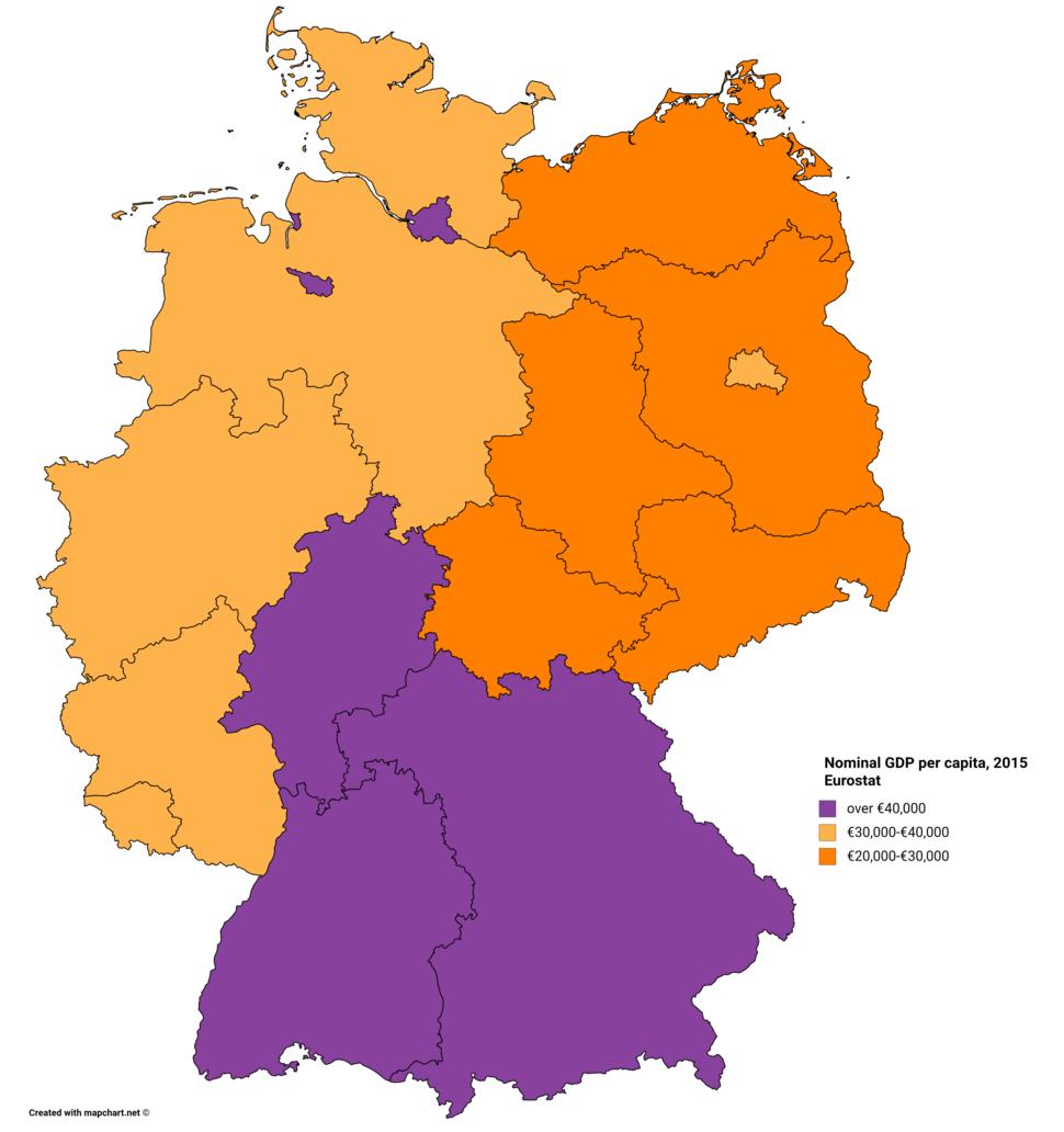 Nominal GDP per capita, 2015 Eurostat