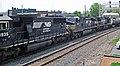 Norfolk Southern Railway - 6935, 9357, & 8379 diesel locomotives (Marion, Ohio, USA) 2 (42503979464).jpg