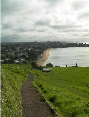 North Shore, New Zealand - Looking north from North Head, near Devonport.