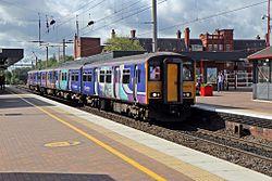 Northern Rail Class 150, 150276, Wigan North Western railway station (geograph 4500019).jpg